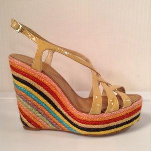 Kate Spade Platform Wedge High Heels Size 8.5